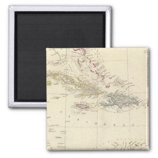 The Antilles or WestIndia Islands Fridge Magnet