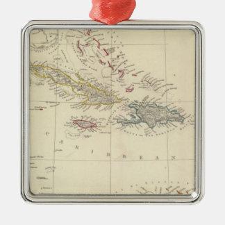 The Antilles or WestIndia Islands Metal Ornament