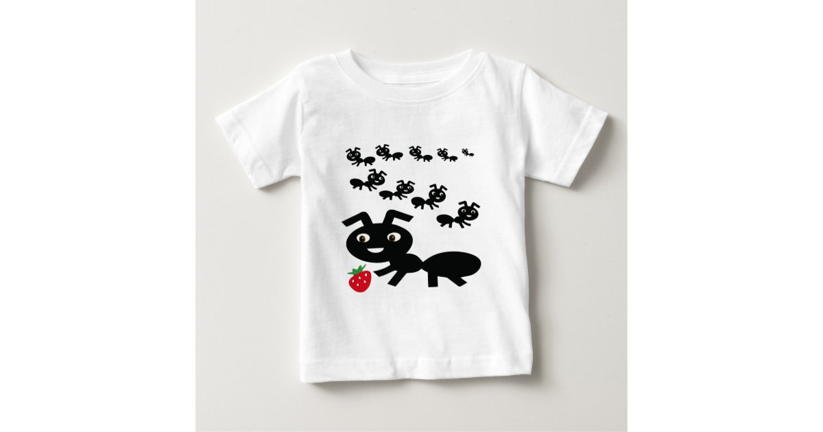 The Ants Go Marching Design Baby T Shirt Zazzle Com