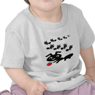 The ants go marching design tee shirt