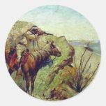 The Apache Round Sticker