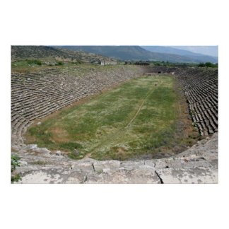 The Aphrodisias Stadium (From the West) Print