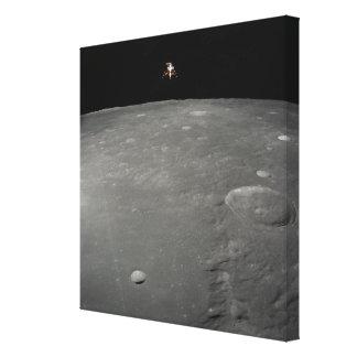 The Apollo 12 lunar module Intrepid Stretched Canvas Print
