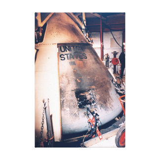The Apollo 1 Burned Out Capsule Stretched Canvas Print