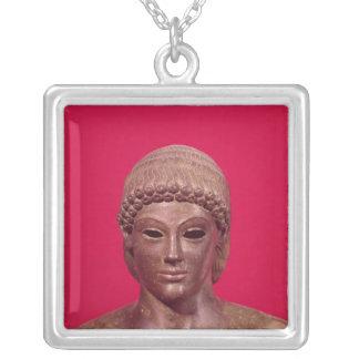 The Apollo of Piombino Square Pendant Necklace
