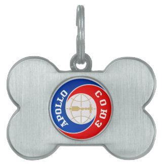 TheApollo–Soyuz  Mission Logo Pet Name Tag
