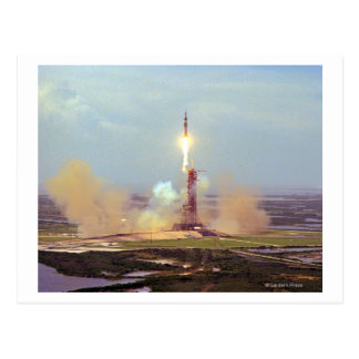 The Apollo Soyuz Test Project Saturn IB Launch Postcard