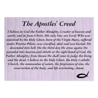 The Apostel's Creed Large Business Cards (Pack Of 100)