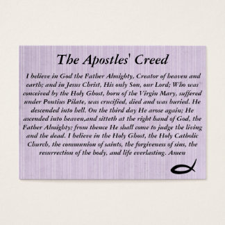 The Apostel's Creed Business Card
