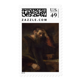 The Apostle Paul, c.1657 (oil on canvas) Postage Stamp
