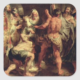 The Apostles, St. Paul and St. Barnabas at Lystra Square Sticker