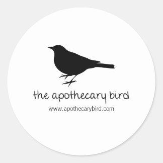 The Apothecary Bird Classic Round Sticker