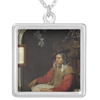 The Apothecary or, The Chemist Silver Plated Necklace