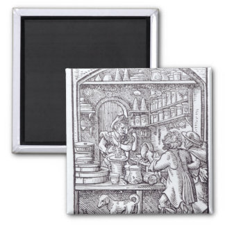The Apothecary, published by Hartman Schopper 2 Inch Square Magnet