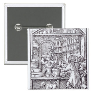 The Apothecary, published by Hartman Schopper 2 Inch Square Button