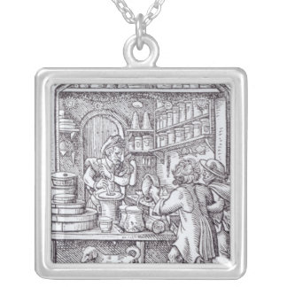 The Apothecary, published by Hartman Schopper Silver Plated Necklace