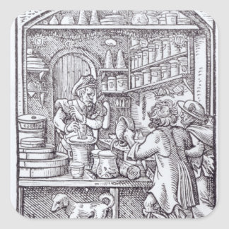 The Apothecary, published by Hartman Schopper Square Sticker