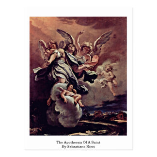 The Apotheosis Of A Saint By Sebastiano Ricci Postcard