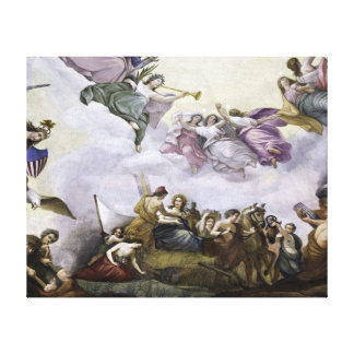 The Apotheosis of George Washington - Agriculture Stretched Canvas Prints