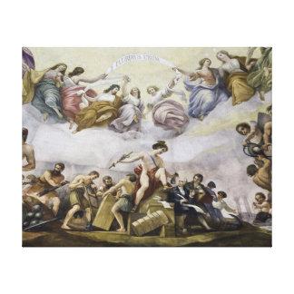 The Apotheosis of George Washington - Commerce Canvas Print