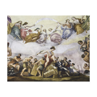 The Apotheosis of George Washington - Commerce Canvas Print