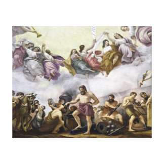 The Apotheosis of George Washington - Mechanics Canvas Print