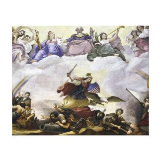The Apotheosis of George Washington - War Canvas Print