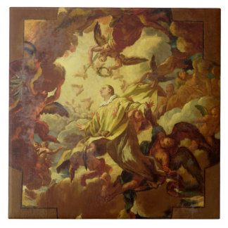 The Apotheosis of St. Stephen Large Square Tile