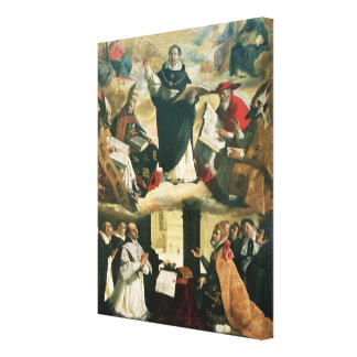 The Apotheosis of St. Thomas Aquinas, 1631 Canvas Print