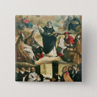 The Apotheosis of St. Thomas Aquinas, 1631 Pinback Button