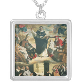 The Apotheosis of St. Thomas Aquinas, 1631 Silver Plated Necklace