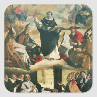 The Apotheosis of St. Thomas Aquinas, 1631 Square Sticker