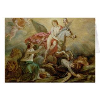 The Apotheosis of Voltaire, 1778 Card