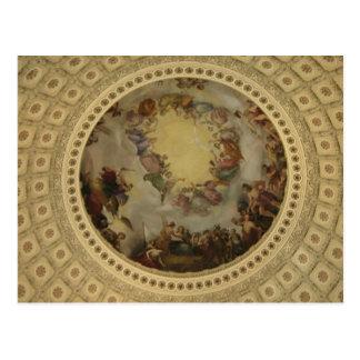 The Apotheosis of Washington Capitol Rotunda Postcard
