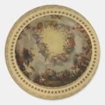 The Apotheosis of Washington Capitol Rotunda Round Stickers