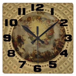 The Apotheosis of Washington  Washington DC Art Square Wall Clock
