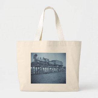 The Appalling Accident at Farmington River (Cyan) Large Tote Bag