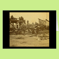 The Appalling Accident at Farmington River (Sepia) Card
