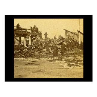 The Appalling Accident at Farmington River (Sepia) Postcard