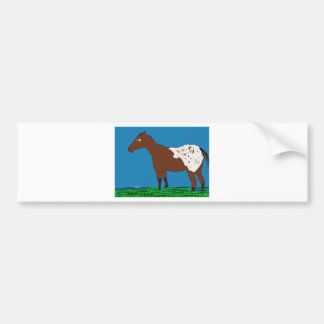 The Appaloosa- Whimsical Horse Collection Bumper Sticker