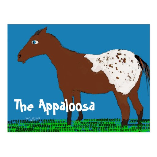 The Appaloosa- Whimsical Horse Collection Postcard