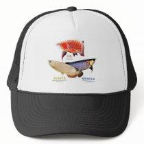 The apparel of 3 Asian Arowanas Trucker Hat