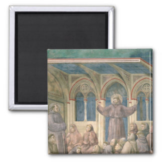 The Apparition at the Chapter House at Arles 2 Inch Square Magnet