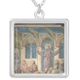 The Apparition at the Chapter House at Arles Silver Plated Necklace