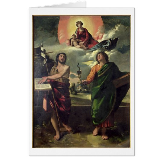 The Apparition of the Virgin to the Saints John th Card
