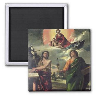 The Apparition of the Virgin to the Saints John th Fridge Magnet