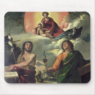 The Apparition of the Virgin to the Saints John th Mouse Pad