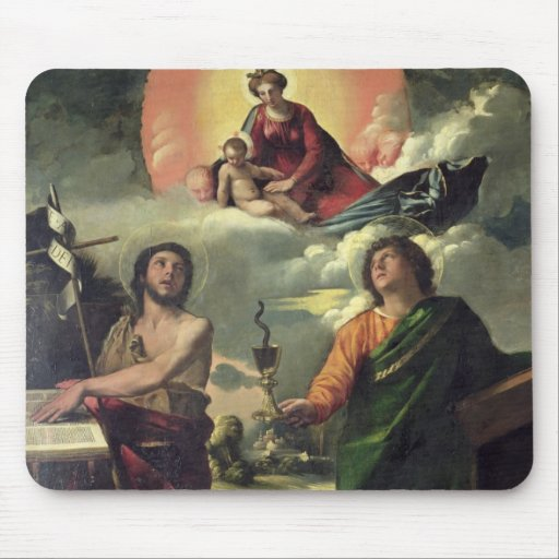 The Apparition of the Virgin to the Saints John th Mousepads