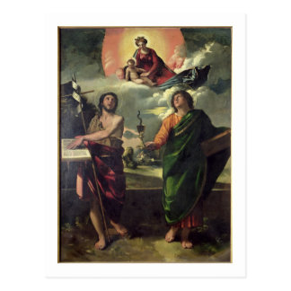The Apparition of the Virgin to the Saints John th Postcard