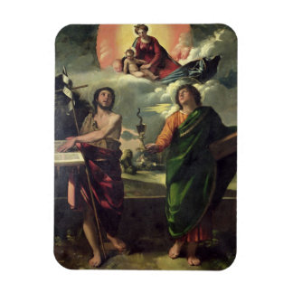 The Apparition of the Virgin to the Saints John th Vinyl Magnets